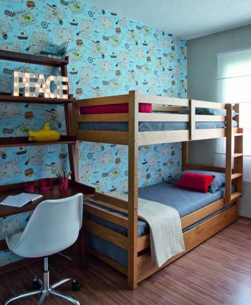 cama simples de madeira