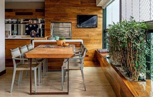 mesas para varanda de madeira