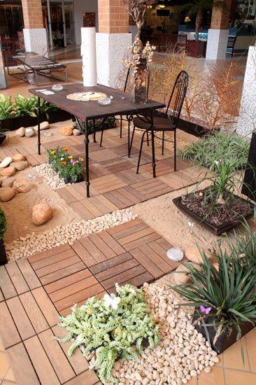 varanda de madeira mesa ideal