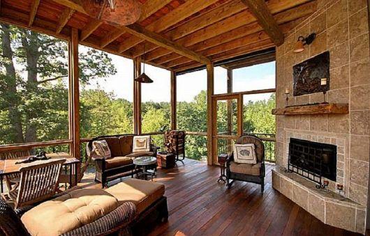varanda de madeira casa rústica
