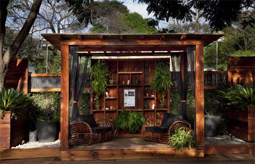 varanda de madeira decoração rústica