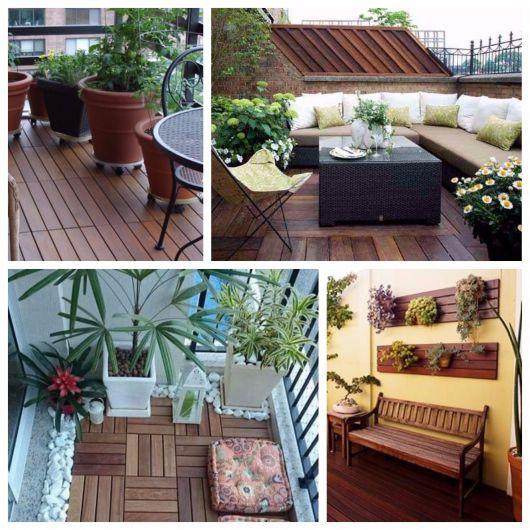 varanda de madeira plantas para decorar