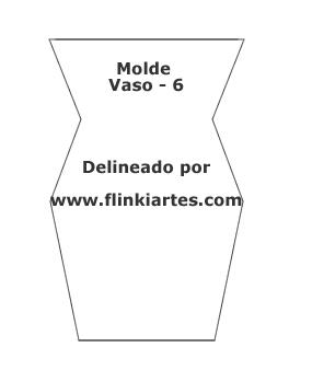 Molde para vaso de caixa de leite.