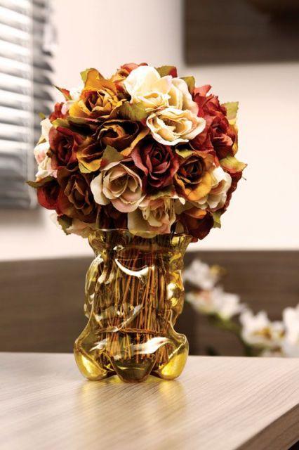 vaso decorativo com flores