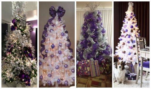 Montagem com quatro árvores de Natal.