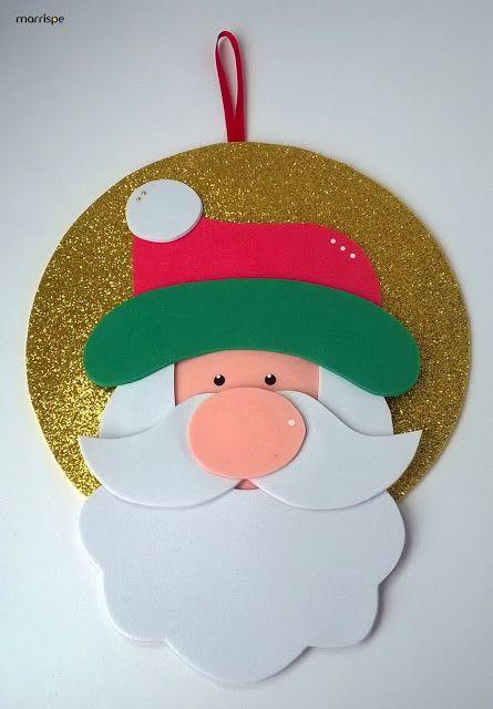 Papai Noel feito de EVA.