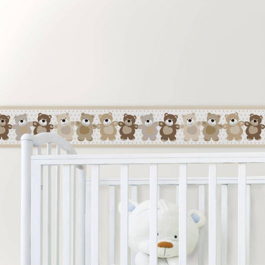 faixas para quarto de bebê com desenho de ursinhos