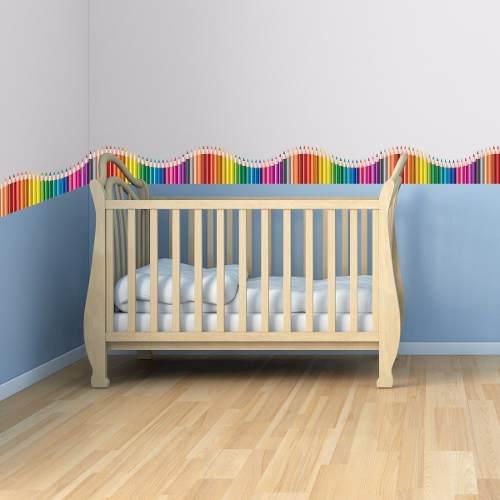 faixas para quarto de bebê de desenhos de lápis de cor