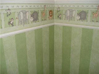 faixa para quart de bebê verde