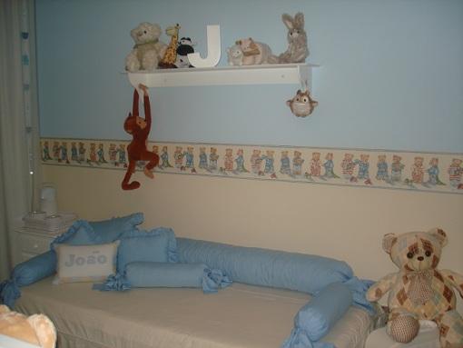 faixa para quarto de bebê com estampa de ursos