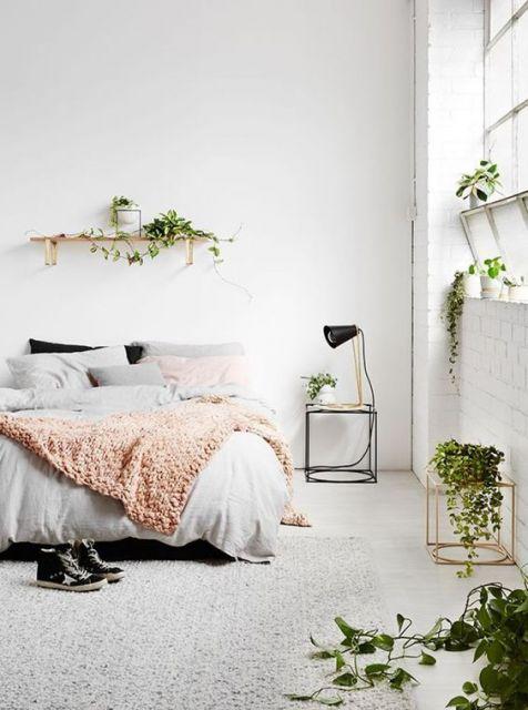 quarto com plantas