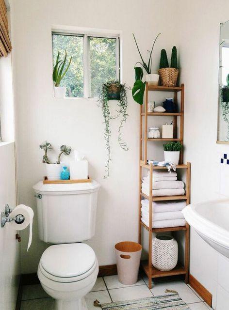 plantas para apartamento em banheiro