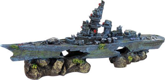 navio naufragado para aquário de água doce