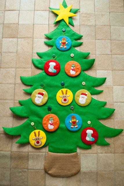 árvore de natal artesanal feltro