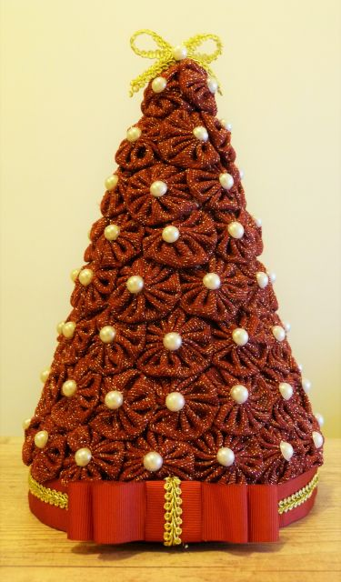 árvore de natal artesanal de fuxico
