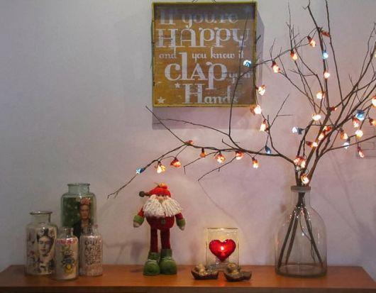 árvore de natal artesanal galho seco