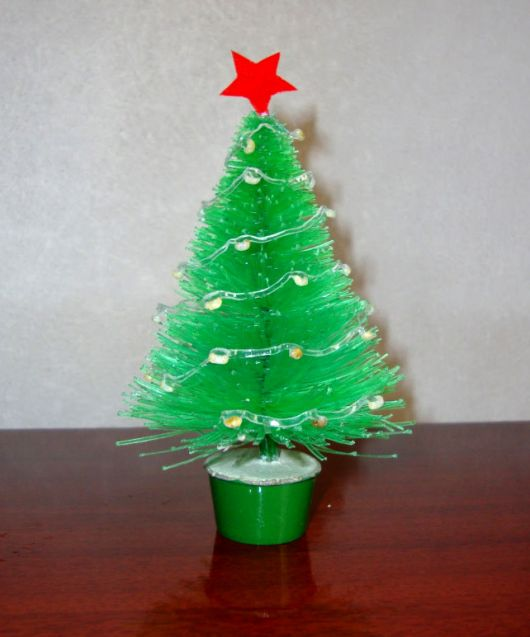 árvore de natal artesanal garrafa PET