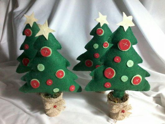 árvore de natal artesanal modelo de feltro
