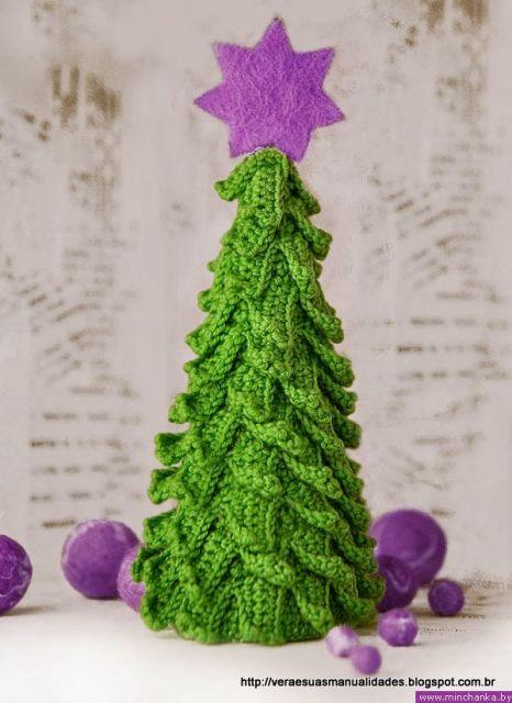 árvore de natal artesanal croche pequena