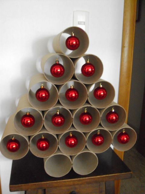 árvore de natal artesanal de PVC