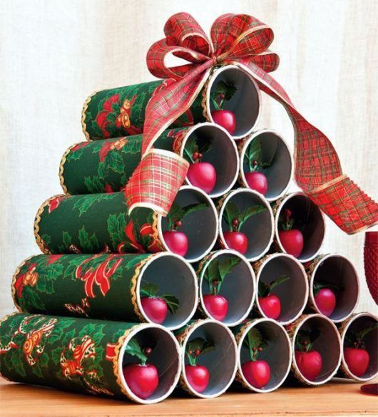 árvore de natal artesanal PVC decorado