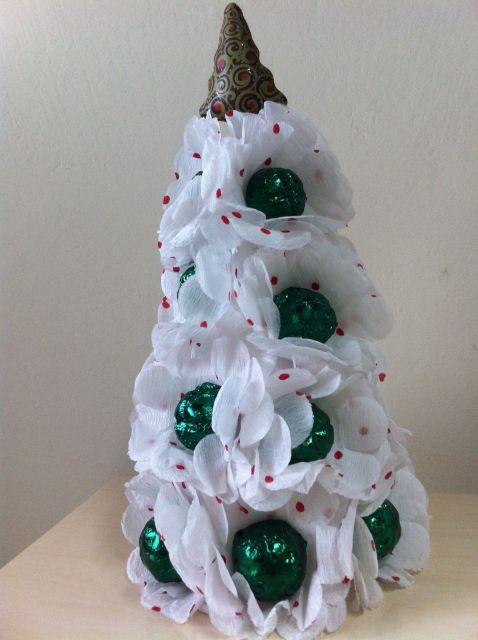 árvore de natal artesanal de bombom