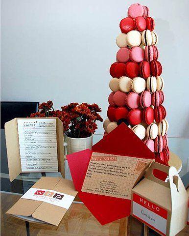 árvore de natal artesanal macarons vermelhos e brancos