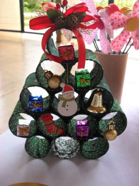 árvore de natal artesanal PVC pequena