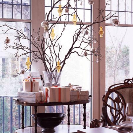 árvore de natal artesanal decoração galho seco