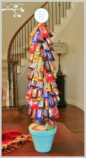árvore de natal artesanal chocolates