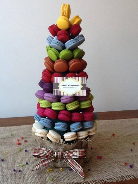 dica de árvore de natal artesanal de macarons