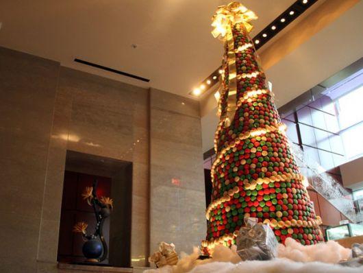 árvore de natal artesanal grande com macarons