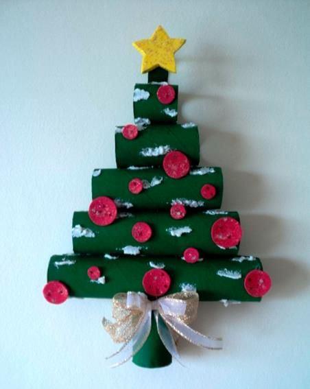 árvore de natal artesanal cano de PVC verde