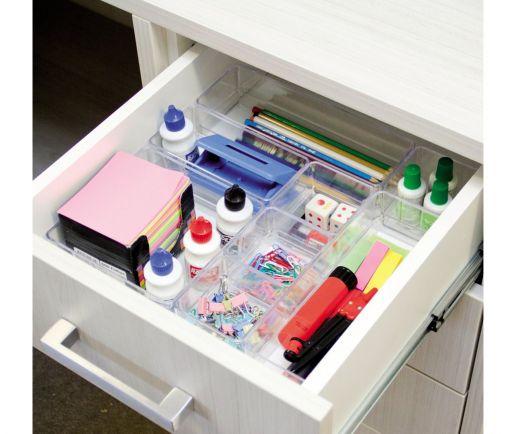 como organizar gavetas com material para escritório