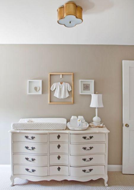 cômoda para quarto de bebê provençal