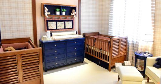 cômoda para quarto de bebê azul marinho