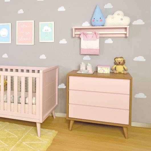 cômoda para quarto de bebê rosa bebê