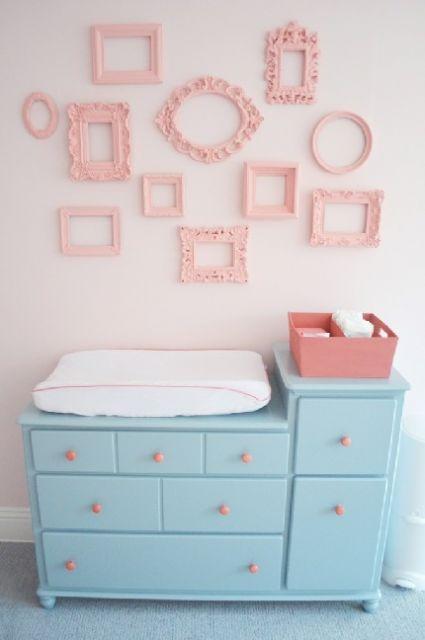 cômoda para quarto de bebê azul claro