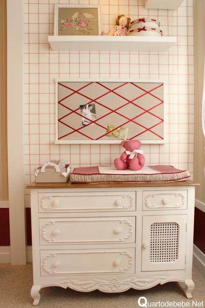 cômoda para quarto de bebê moda provençal