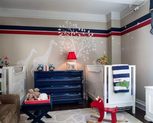 cômoda para quarto de bebê moderna azul