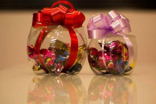 Enfeites de Natal para Mesa u2013 50 Ideias Impressionantes& Como Fazer! -> Decoração De Natal De Mesa Com Garrafa Pet