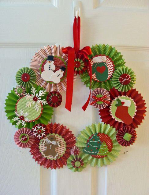 enfeites para porta de Natal DIY