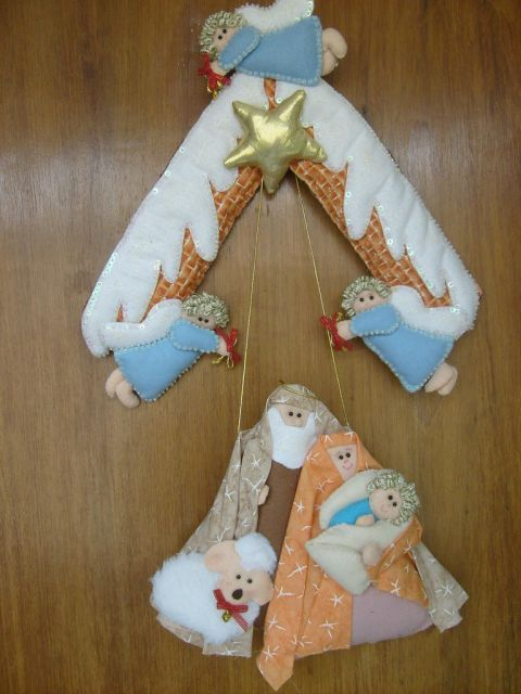 enfeites para porta de Natal religião