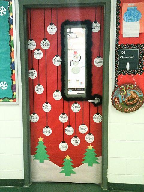 enfeites para porta de Natal sala de aula
