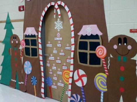 enfeites para porta de Natal casa de doces