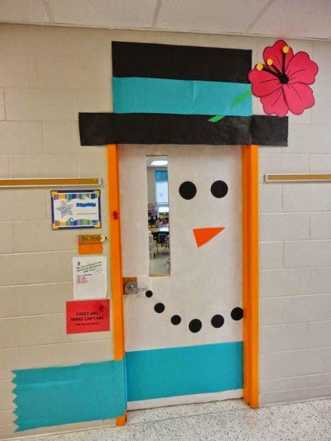 enfeites para porta de Natal boneco de neve