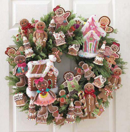 enfeites para porta de Natal doces