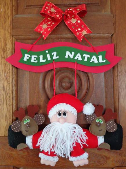 enfeites para porta de Natal renas