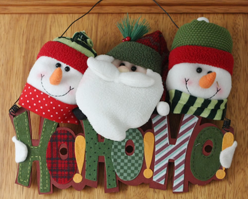 enfeites para porta de Natal hohoho