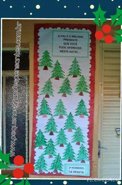 enfeites para porta de Natal árvores de natal